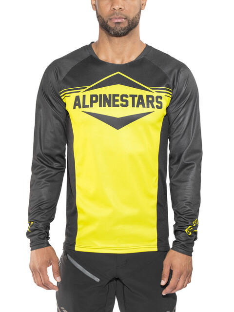 Alpinestars Mesa LS Jersey Men black acid yellow